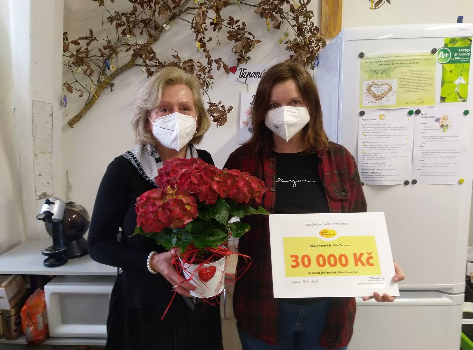 Hospic v Tachově zakoupí z daru čtyři antidekubitní matrace