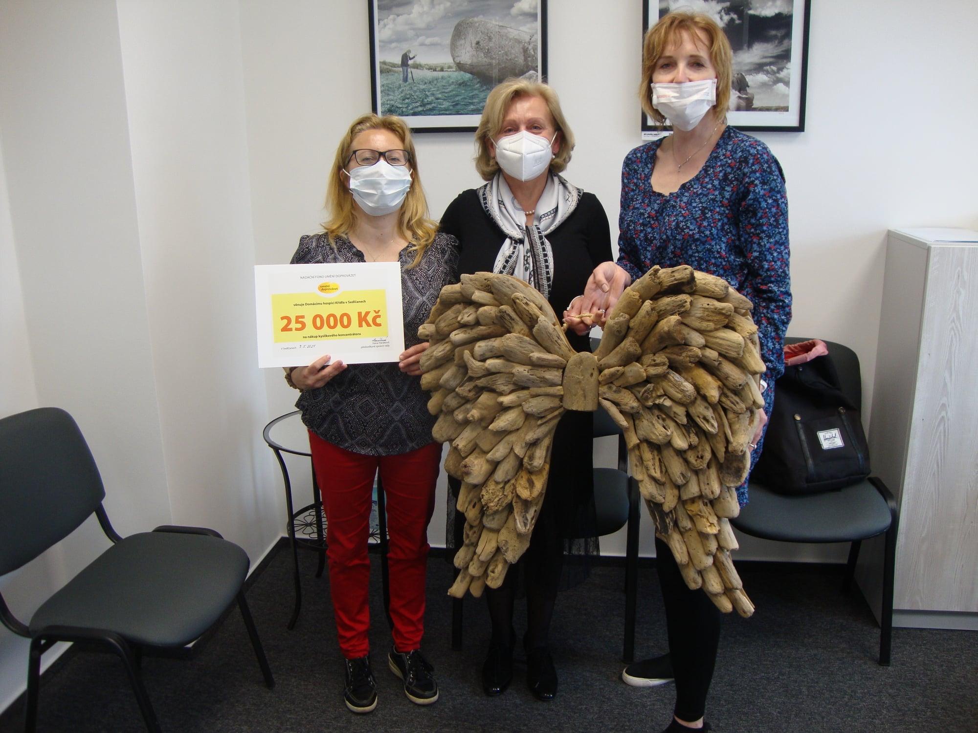 Domácí hospic Křídla od nás získal finanční dar na nákup kyslíkového koncentrátoru